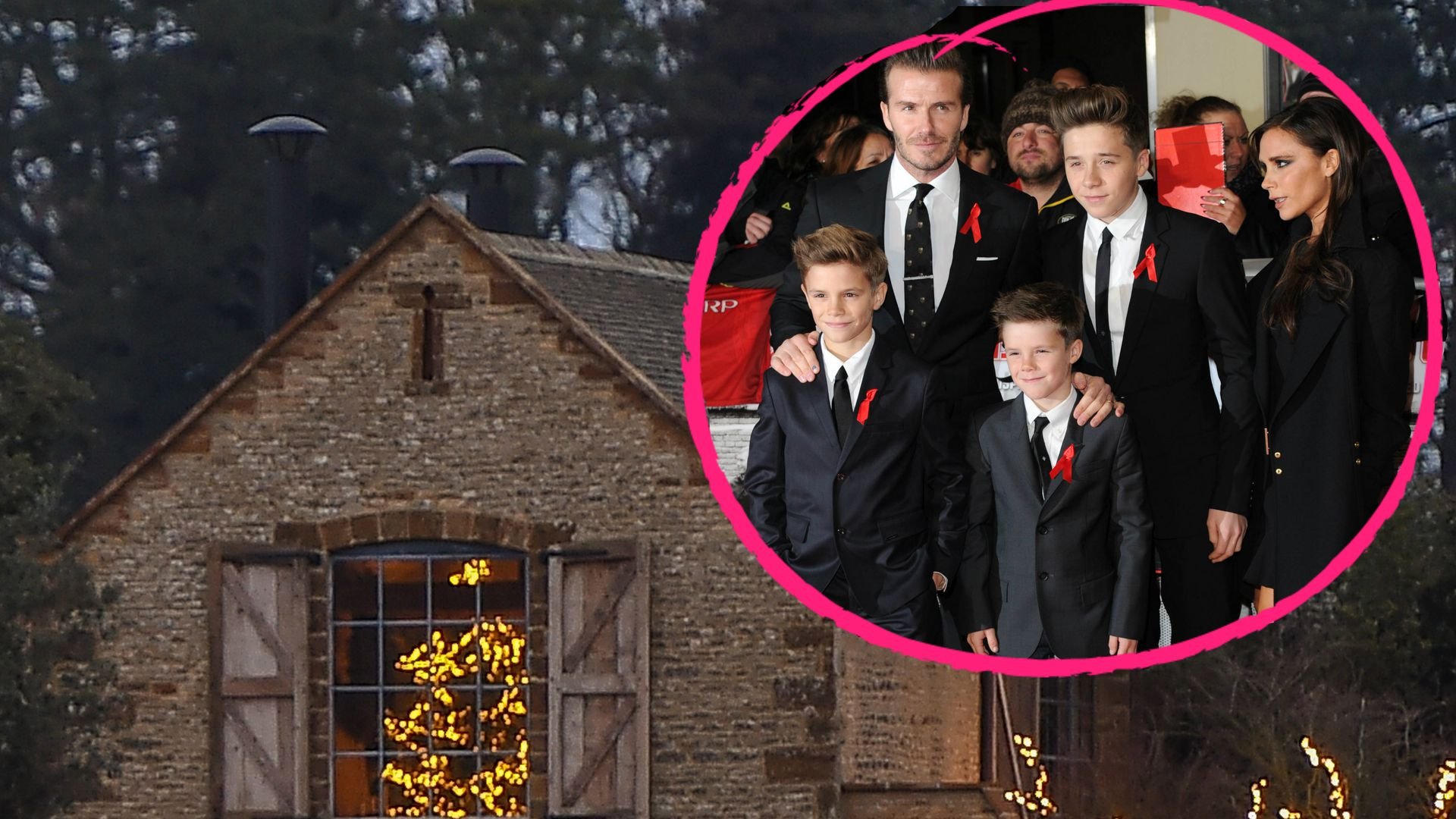 wie romantisch in diesem h uschen feiern die beckhams xmas. Black Bedroom Furniture Sets. Home Design Ideas