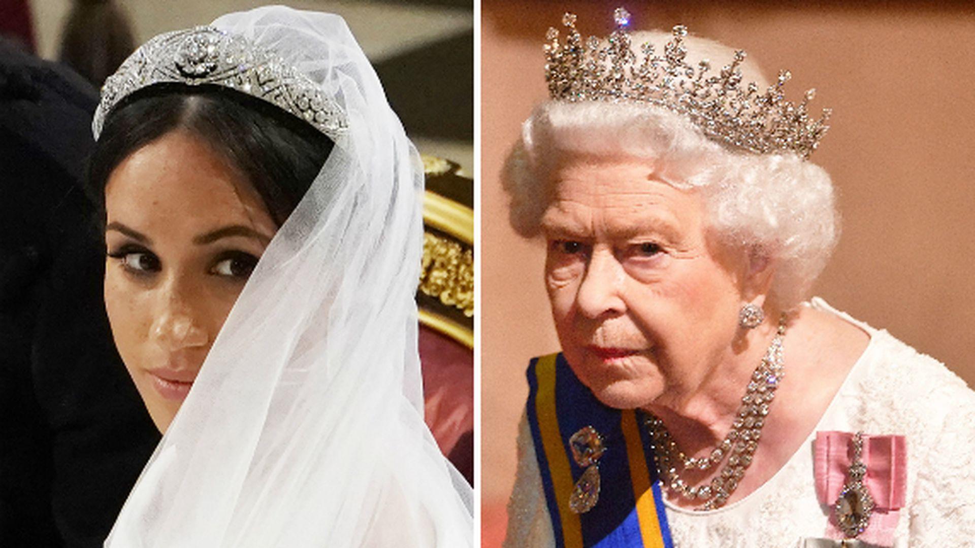 La reina estaba en contra de Meghan divorciada vistiendo velos