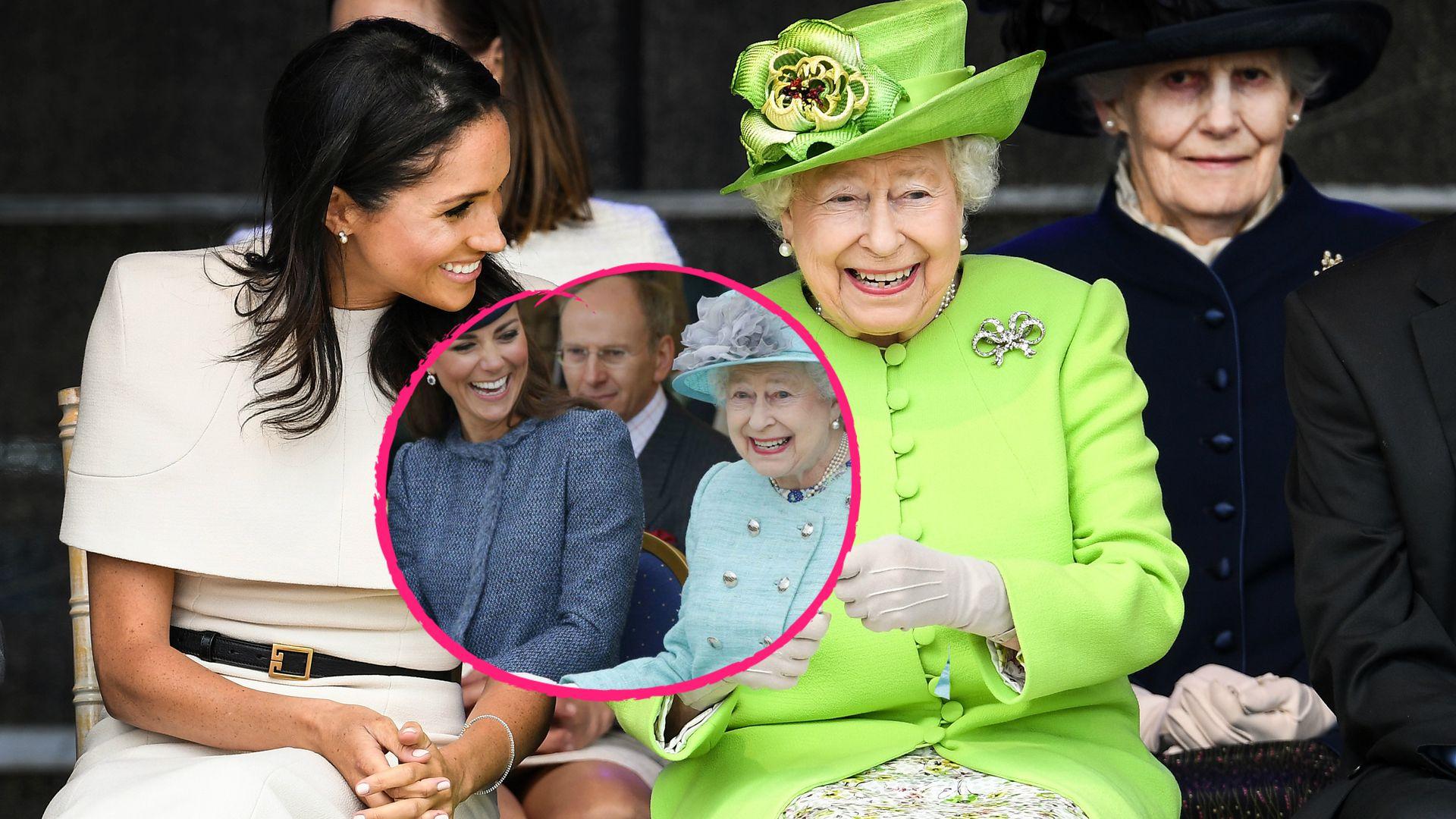 Mit Der Queen Imitiert Herzogin Meghan Kates Verhalten