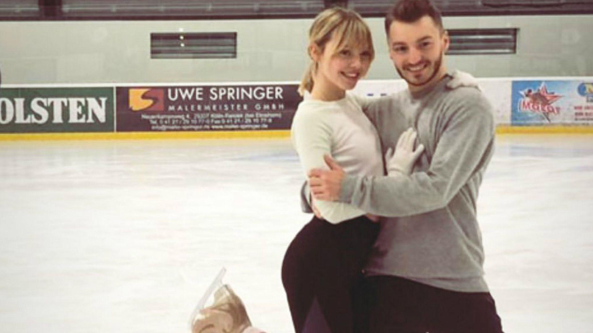 Lina dancing on ice