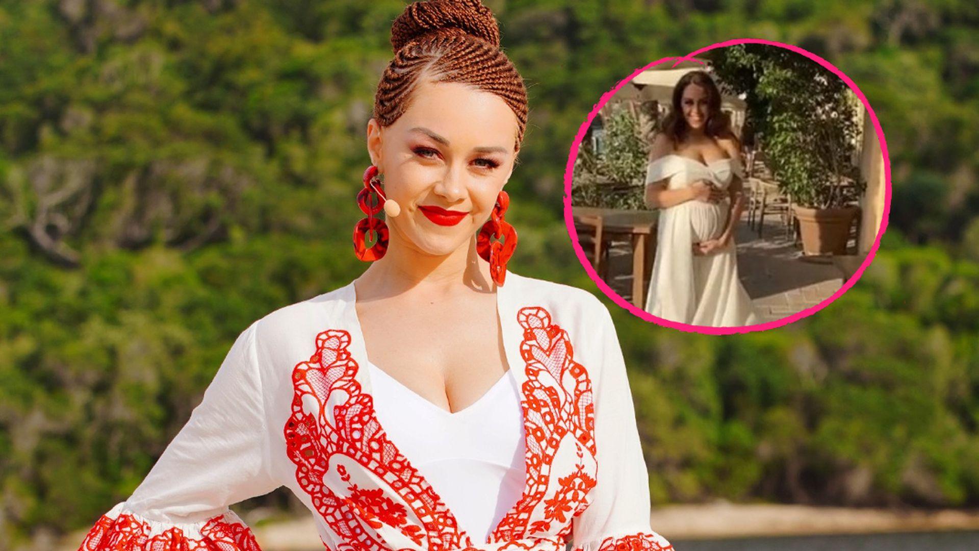 Im Braut-Look? So schön strahlt schwangere Oana Nechiti