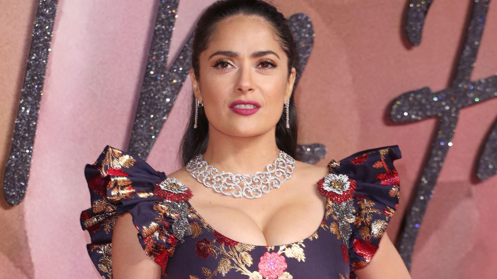 Salma Hayek British Fashion Awards