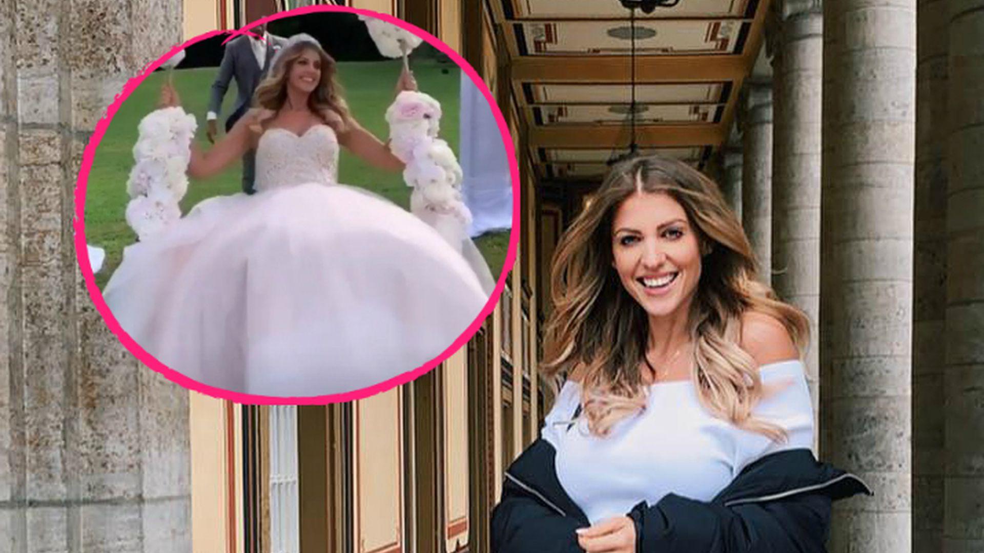 Erster Blick: So pompös ist Sarah Harrisons Brautkleid  Promiflash.de