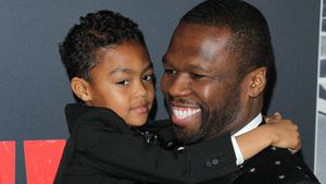 Putziger Gangster-Daddy: 50 Cent mit Söhnchen auf Red Carpet