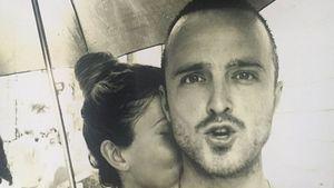 Aaron Paul mit seiner Ehefrau Lauren Parsekian
