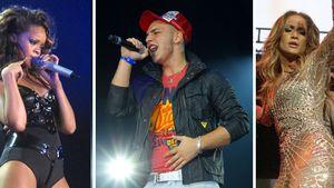 Pietro Lombardi, Adele Adkins, Rihanna, Jennifer Lopez, Bruno Mars und Tim Bendzko