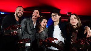 Jakob Moritz Erwa, Noah Saavedra, Ella Rumpf, Anand Batbileg und Tristan Goebel beim New Faces Award
