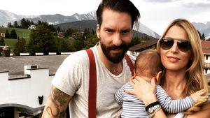 Alec und Johanna Völkel mit ihrem Sohn Charlie Joe