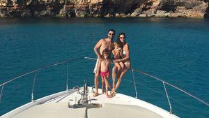 Alessandra Ambrosio mit ihrer Familie