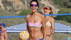 Megatrainiert: Alessandra Ambrosio sportelt sexy am Strand