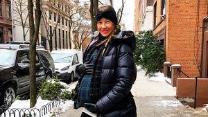 Alessandra Meyer-Wölden im Winteroutfit im Januar 2017