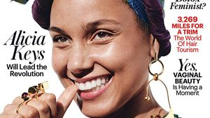 "Alicia Keys auf dem Cover der Februar-Ausgabe des ""Allure""-Magazins"