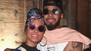 """Alicia Keys und Ehemann Swizz Beatz auf seiner """"No Comission""""-Ausstellung in Berlin"""