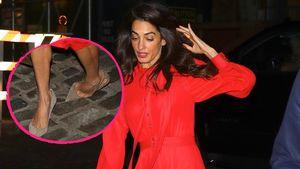 High-Heels-Horror: Amal Clooney strauchelt auf der Straße