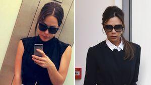 Angelina Heger und Victoria Beckham