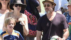Angelina Jolie und Brad Pitt mit Tochter Shiloh