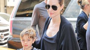 Angelina Jolie und Know Jolie-Pitt in New York