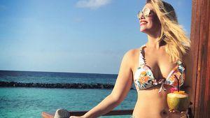 Was für ein Ausblick! Curvy-Star Angelina Kirsch im Bikini