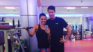 Anna und Robert Lewandowski im Gym