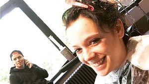 Anne Wünsche beim Friseur