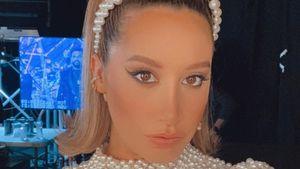 Schwangere Ashley Tisdale punktet im eleganten Perlenkleid