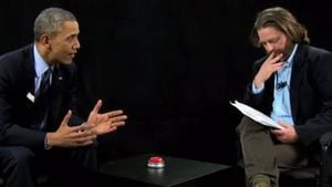 Barack Obama und Zach Galifianakis
