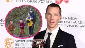 Seltener Anblick: Benedict Cumberbatch beim Familienausflug