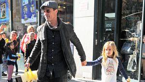 Brad Pitt mit seiner Tochter Vivienne in New York 2015