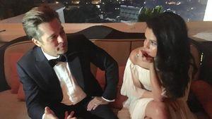 Brad Pitt und Selena Gomez bei den Golden Globes