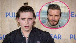 Brooklyn Beckham mit seinem Vater David