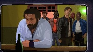 "Bud Spencer im Computerspiel ""Slaps And Beans"""