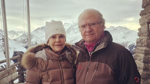 Carl Gustaf und Silvia von Schweden in den Schweizer Alpen