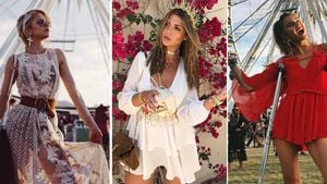 Caro Daur, Farina Opoku und Stefanie Giesinger beim Coachella