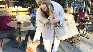 Cathy Hummels und ihr Hund