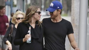 Chad Michael Murray (r.) und seine schwangere Frau