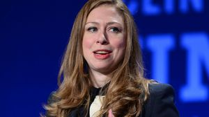"Chelsea Clinton hält eine Rede bei der ""The Clinton Global Initiative University"""