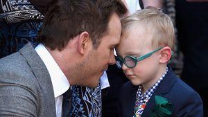 Chris Pratt und sein Sohn Jack bei der Walk of Fame-Ehrung in Hollywood 2017