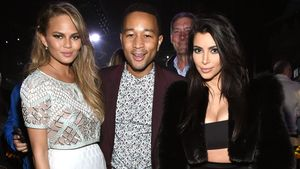Chrissy Teigen, John Legend und Kim Kardashian