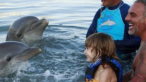 Christian Audigier plantscht mit Kids & Delfinen