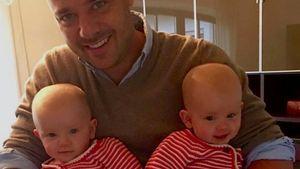 Christian Tews mit seinen Zwillingen