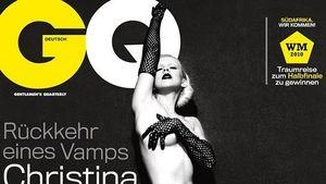 Christiana Aguilera nackt auf dem GQ-Cover
