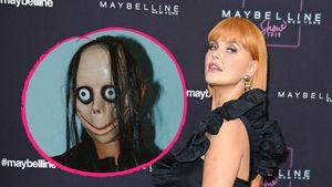 Unsensibel? Bonnie Strange posiert mit einer Momo-Maske!