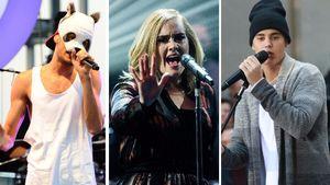 Justin Bieber, Adele Adkins und Cro