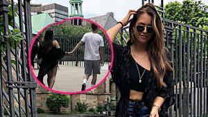 Hält Jessica Paszka hier Händchen mit ihrem neuen Freund?