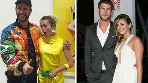 Liam Hemsworth und Miley Cyrus heute und früher