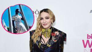 Stylisch! Hier trägt Madonnas Sohn David ein lässiges Kleid
