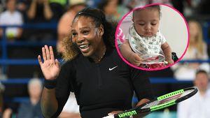 Ganz wie Mami Serena: Alexis Jr. mit Mini-Tennisschläger!