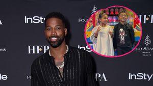 Rar! Hier zeigt Tristan Thompson seine Kids True und Prince