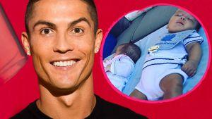 So groß geworden! Hier schlummern Cristiano Ronaldos Twins