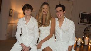 Elle Macpherson posiert auf Magazin-Cover mit ihren Söhnen